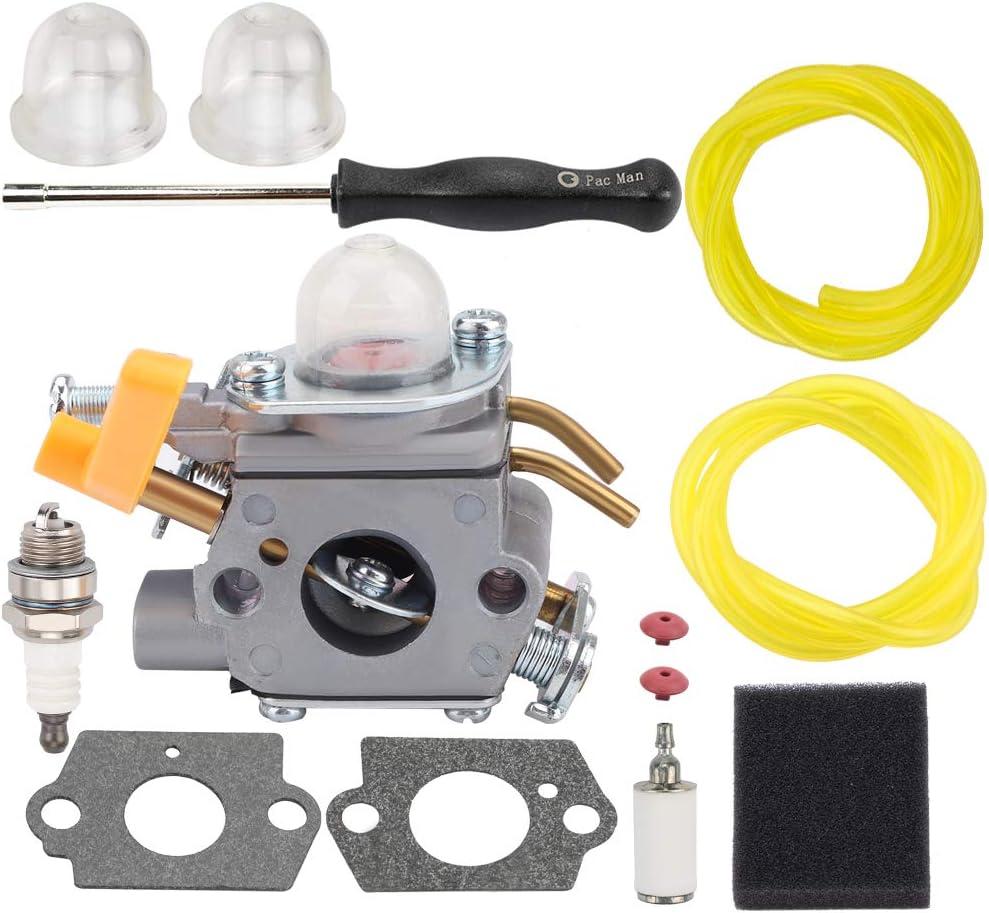 BQBS C1U-H60 Carburetor for Ryobi Homelite 25cc 26cc 30cc CS30 CS26 SS26 SS30 BC30 PC30 TP30 S430 String Trimmer Brushcutter 985624001 308054003 with Air Filter Adjustment Tool Tune-Up Kit