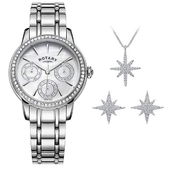 Rotary - Juego de Relojes y Joyas para Mujer