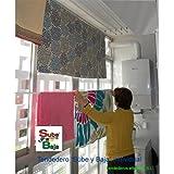 Tendederos Efegete Tentr160 - Tendedero techo con sube-baja efegete, 1,60 cm
