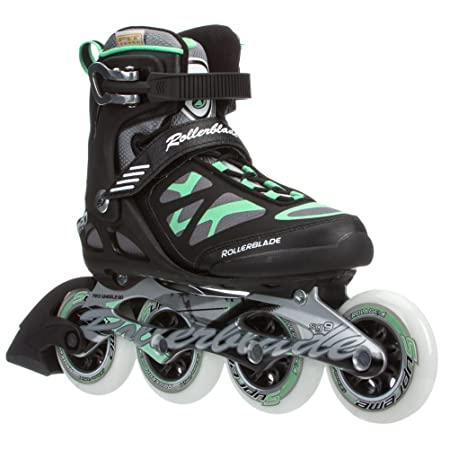 Rollerblade 2015 MACROBLADE 90 High Performance Fitness/Training Skate with 90mm Wheels, Black/Green, US Women's 7