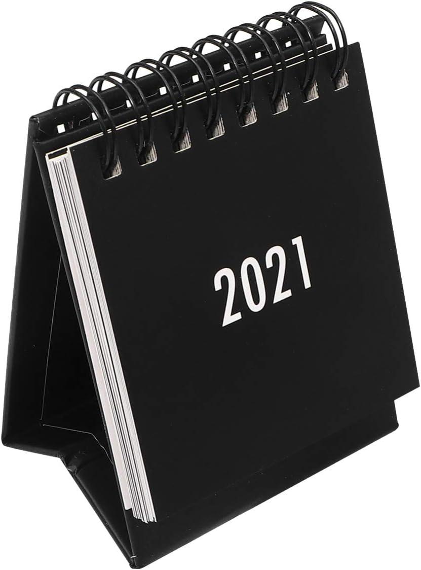 Desk Calendar 2020-2021, Small Monthly Desk Calendar Planner, Cute Desk Accessories, Desktop Perpetual Calendar for Home Office