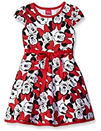 Disney Little Girls' Minnie Mouse All Over Print Dress