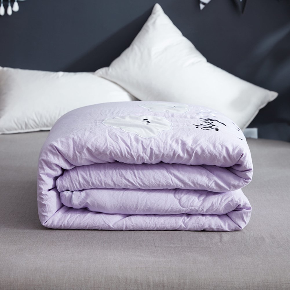 Quilt Washed cotton Thick warm Single dual core-B 220x240cm(87x94inch)