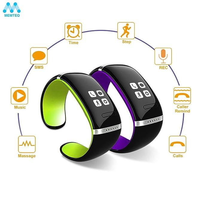 Memteq BX188 - Smartwatch, negro y verde: Amazon.es: Electrónica