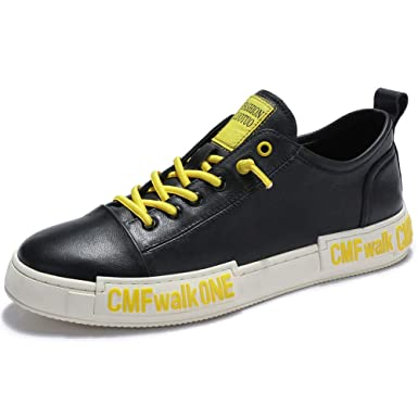 410a72aa6b3 Amazon.com: Men's Fashion Style Sneakers Casual Leather Oxford Sport Shoes  for Walking: Clothing
