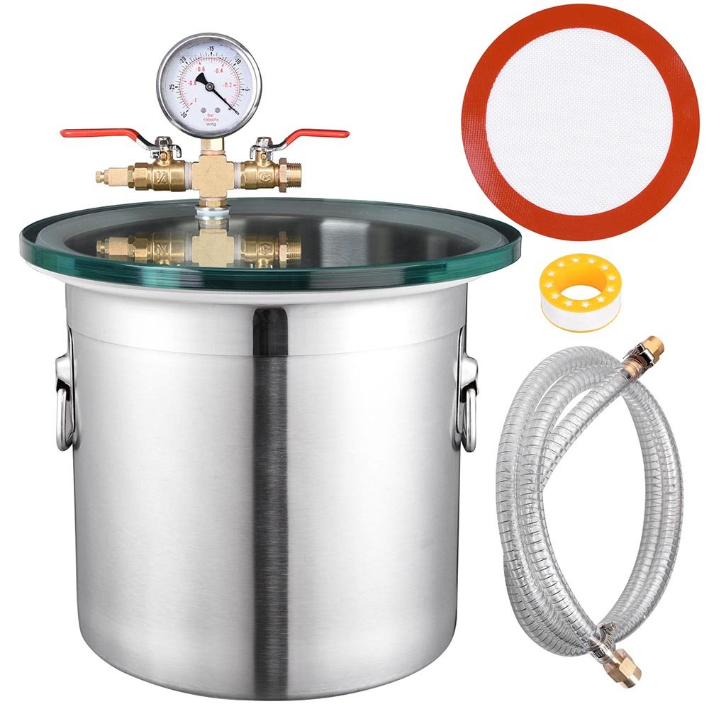 Yescom 3 Gallon Stainless Steel Vacuum Chamber kit to Degass Urethanes Silicones Epoxies by Yescom