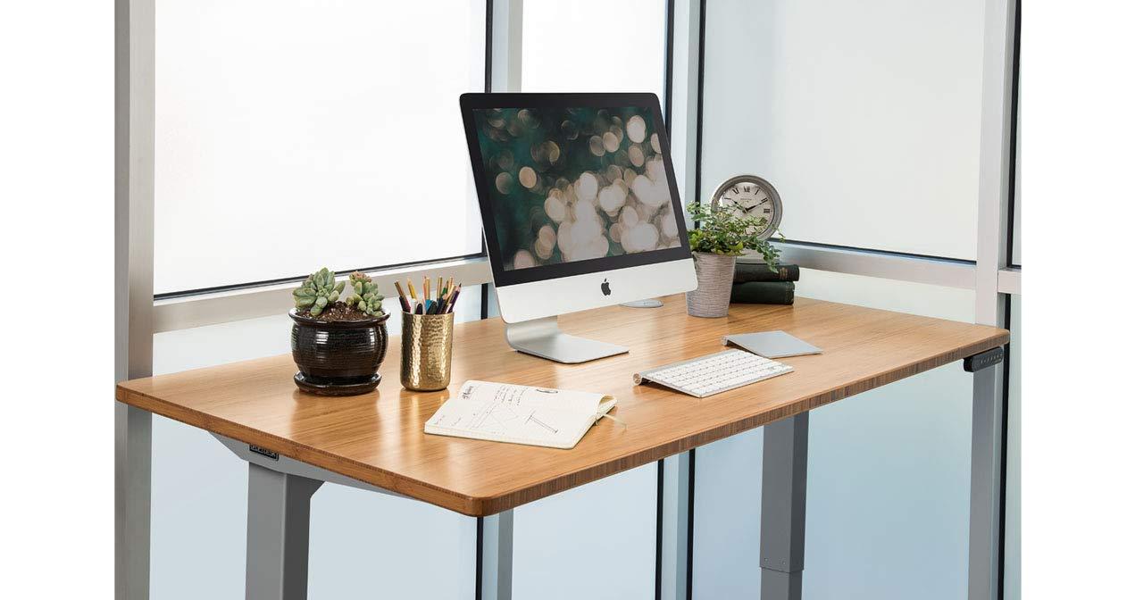 UPLIFT Desk - V2 2-Leg Height Adjustable Standing Desk Frame (Black) with Advanced 1-Touch Digital Memory Keypad by UPLIFT Desk
