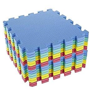 TrendMakers 40 SQ FT / 3.68M² / 40 Piece Interlocking Soft Kids Baby EVA Foam Activity Play Mat Floor Tiles – Multicolor
