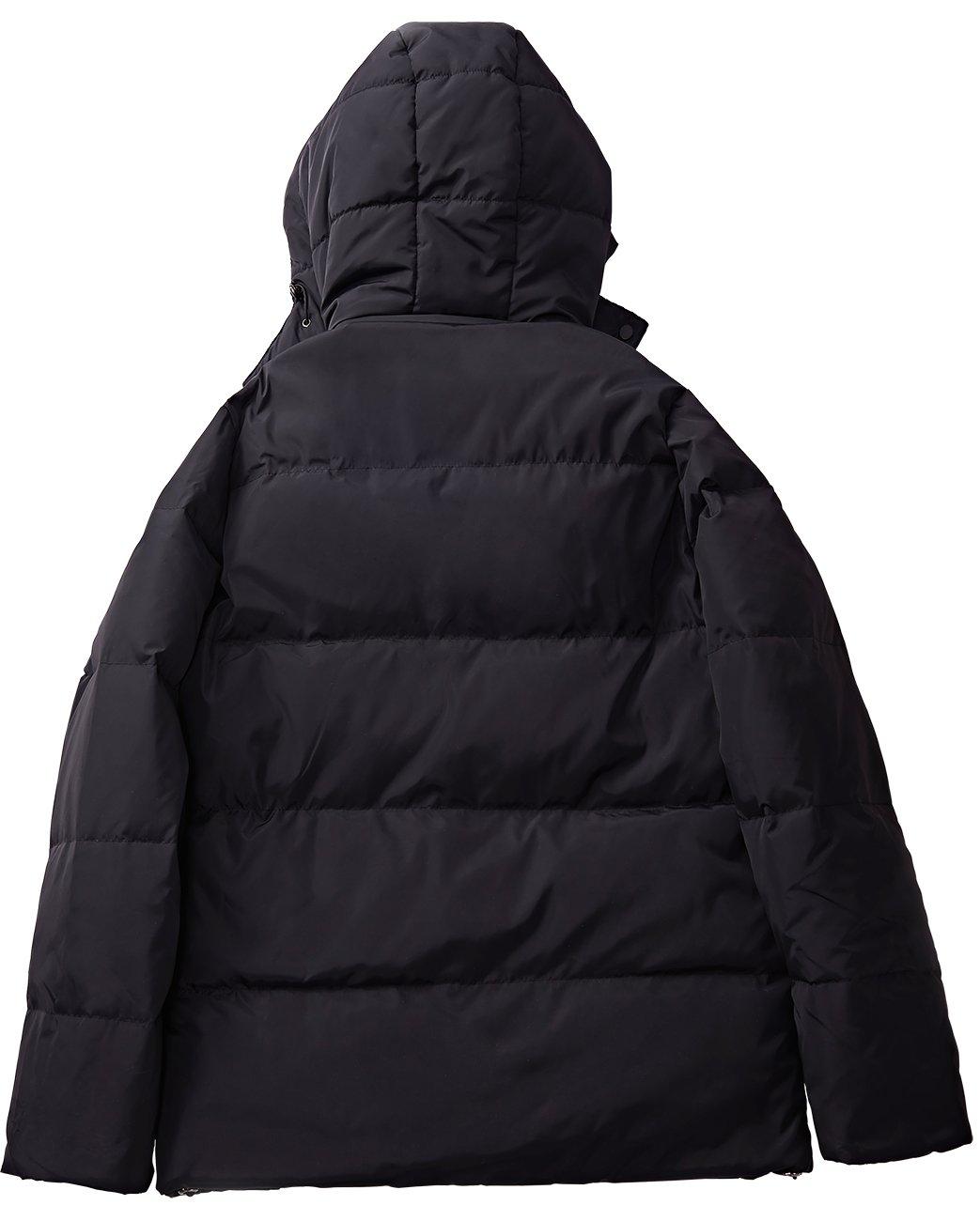 YIWEI Men\'s 650 Fill Down Puffer Jacket With Hood