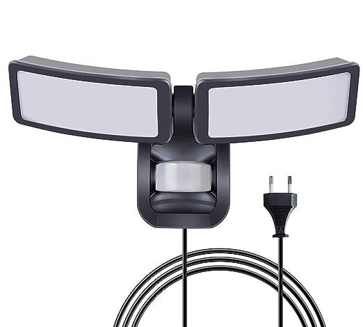 Emotionlite Foco LED Aplique Luz nocturna con sensor de movimiento Enchufe a la luz exterior para