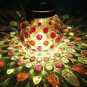 Red Diamond Solar Light Glass Jar Sogrand Small Glass Jars