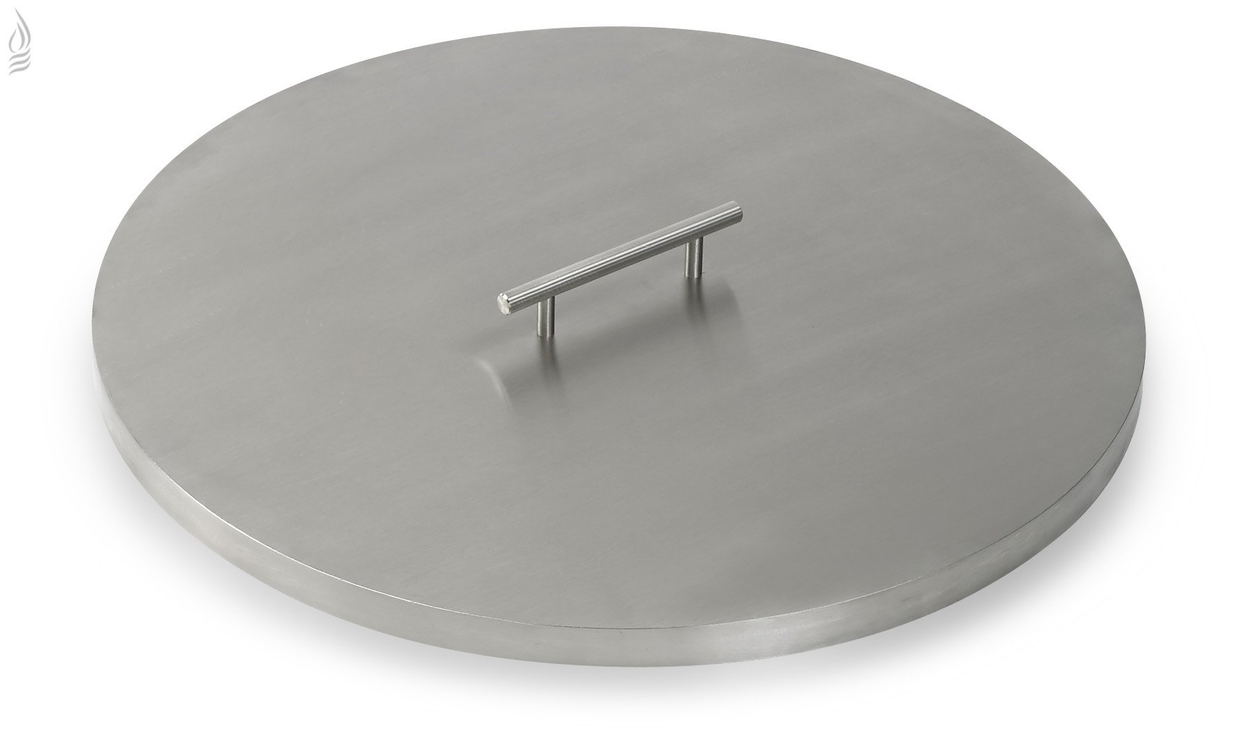 American Fireglass Stainless Steel Fire Pit Pan Covers Round (19 Inch)