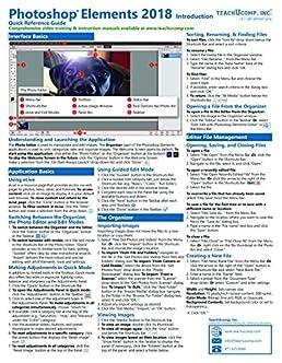 adobe photoshop elements 2018 introduction quick reference training rh amazon com adobe photoshop elements 2.0 user guide adobe photoshop elements 2018 guide