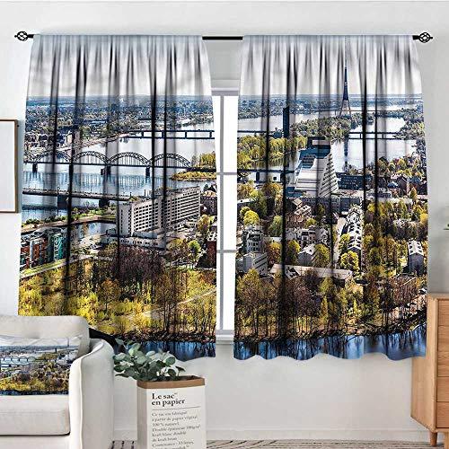 RenteriaDecor European,Nursery/Baby Care Curtains View of Old Riga City 42
