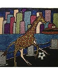 Giraffe through the city