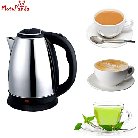GT Gloptook Multi Purpose Stainless Steel Electric Kettle  1.5 L, Silver and Black  Kettle and Toaster Sets