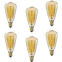 Lot de 3ampoules E14 ST48 à filament Edison vintages rétro, compatibles avec variateurs d'intensité, E14 40.0W 220.0V