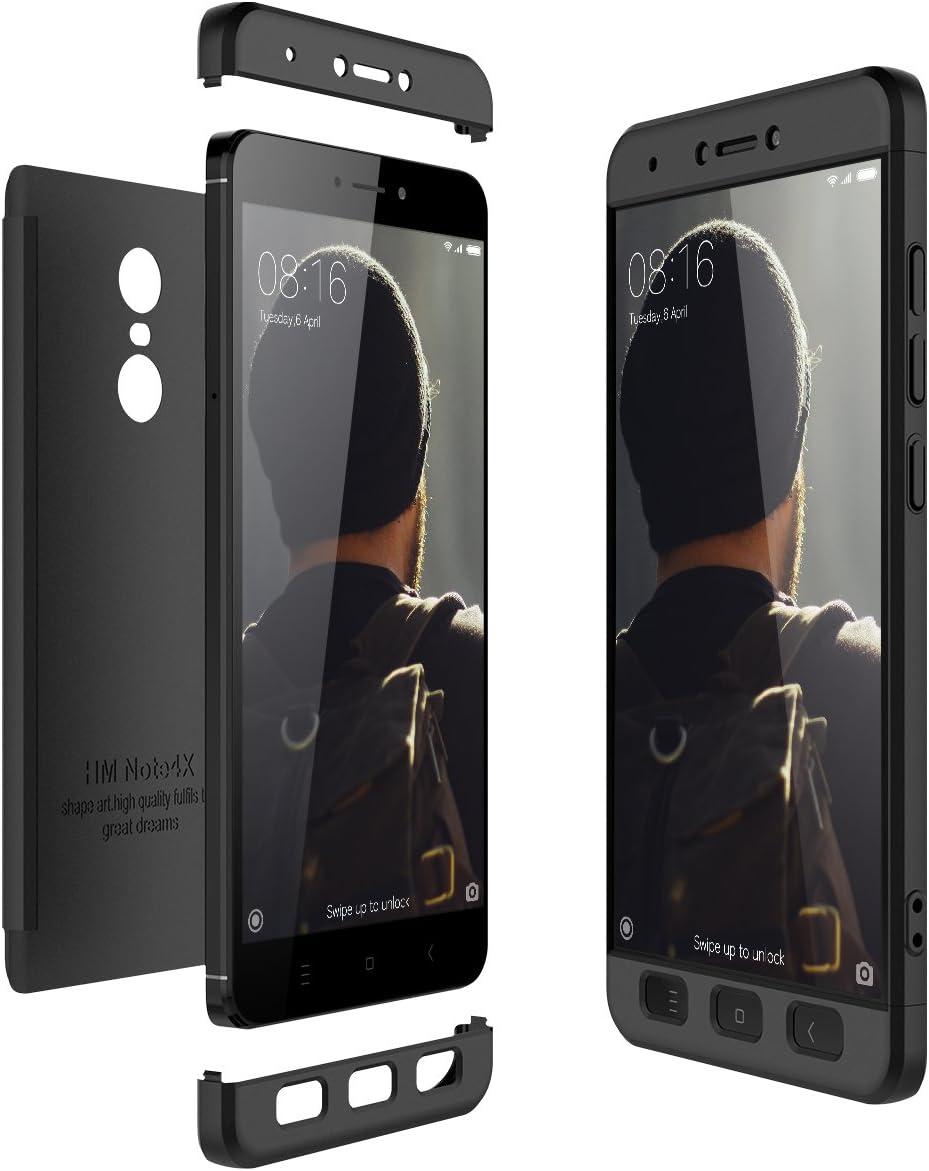 CE-Link Funda Xiaomi Redmi Note 4X Carcasa Fundas para Xiaomi Redmi Note 4X 360 3 en 1 Desmontable Ultra-Delgado Anti-Arañazos Case Protectora: Amazon.es: Electrónica