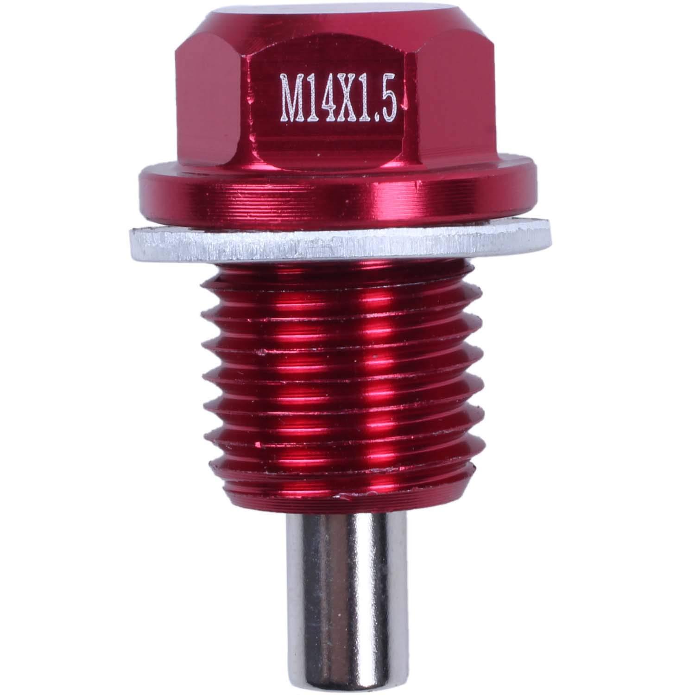 // Mitsubishi//Rosso WOVELOT M14x1.5 Tappo per Tappo di Scarico Olio Magnetico per
