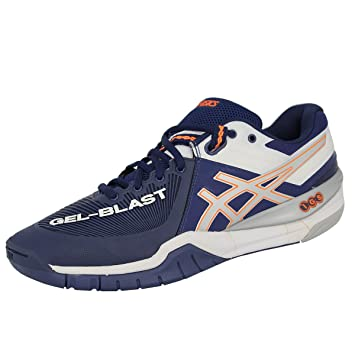 Asics GEL BLAST 6 Whie Blue Men Handball Shoes  Amazon.co.uk  Sports ... 9f57c9d935669