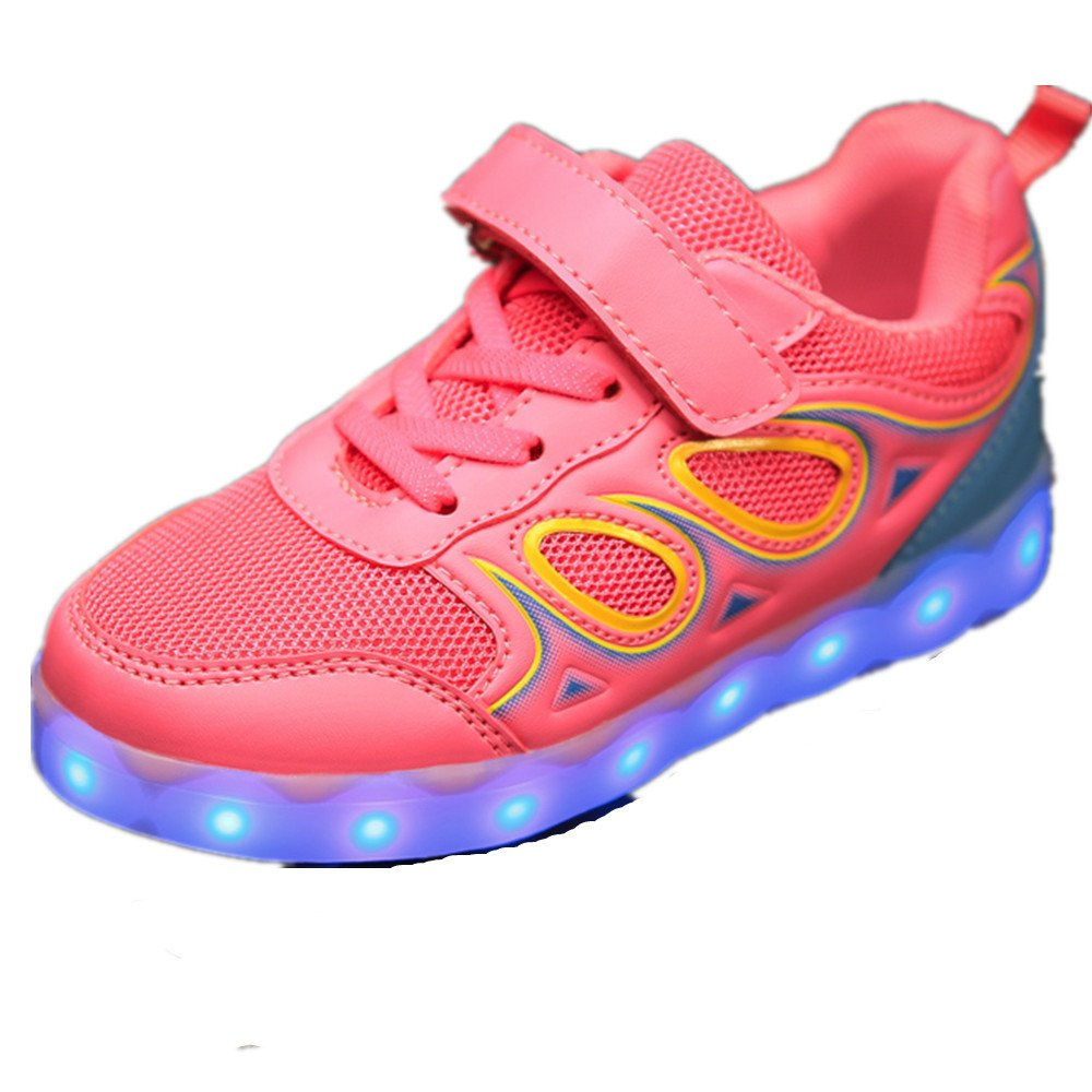 Led Light Up Shoes 7 Colors Flashing Rechargeable Sports Dancing Sneakers for Boys Girls