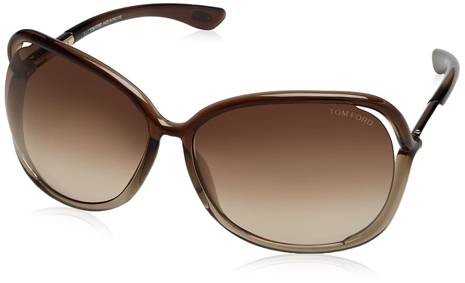 f42ae810a230 Amazon.com  Tom Ford Raquel FT0076 Sunglasses-38F Bronze (Gradient Brown  Lens)-63mm  Clothing