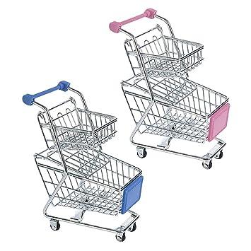 B Blesiya 2X Mini Carro de Compra Metal de Supermercado Juego de Preteder para Niños Muchachos: Amazon.es: Juguetes y juegos