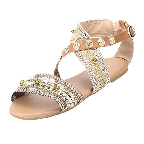 5e94f7365 Amazon.com | Seaintheson Women Sandals, Women Spring Summer Roma Shoes  Ladies Fashion Casual Flats Slipper Bohemian Beach Shoes | Shoes