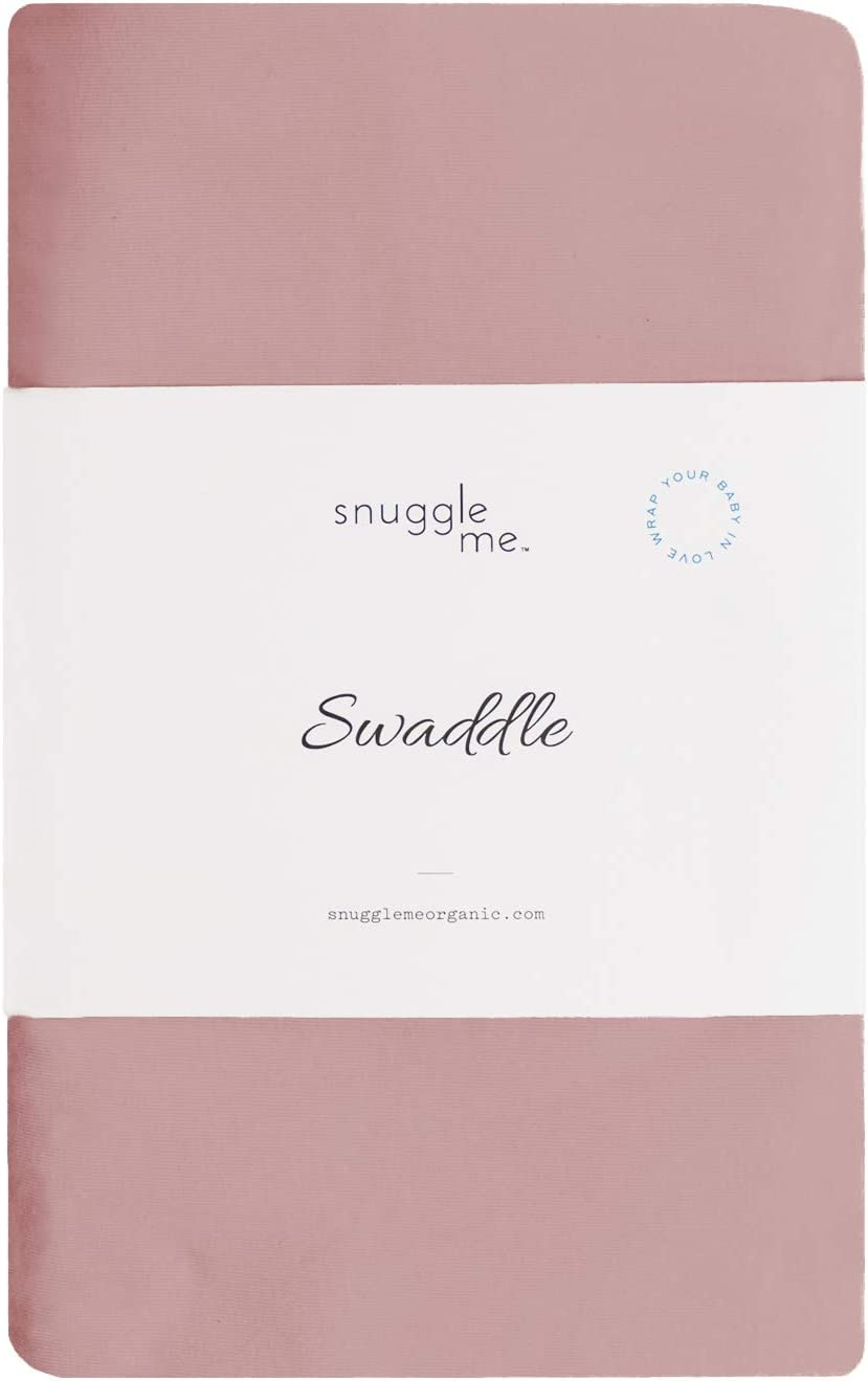 snuggle me Swaddle | Organic Cotton Swaddle Blanket, Soft Stretch, 47 x 47 inches (Bloom)