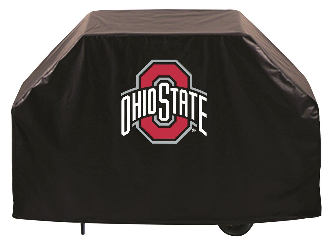 Holland Bar Stool Co. Ohio State Buckeyes HBS Black Outdoor Heavy Duty Vinyl BBQ Grill Cover (60'')
