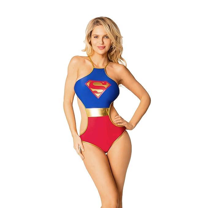 Amazon.com: De la Mujer Superman Monokini traje de baño ...