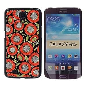 Paccase / SLIM PC / Aliminium Casa Carcasa Funda Case Cover para - Pattern Fabric Orange Black - Samsung Galaxy Mega 6.3 I9200 SGH-i527