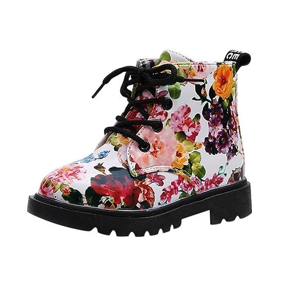 Fossen 1-6 años Bebe Niñas Botas de Flor Botines Zapatos de Otoño e invierno Tamaño EU 21-30: Amazon.es: Ropa y accesorios
