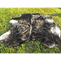 Cowhide Dark Grey Brindle