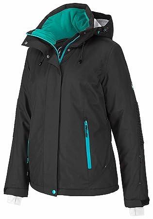 19f4fbe830a13e Polarino Skijacke schwarz Wasserdicht atmungsaktiv winddicht Wassersäule  3000mm (Schwarz, 38)