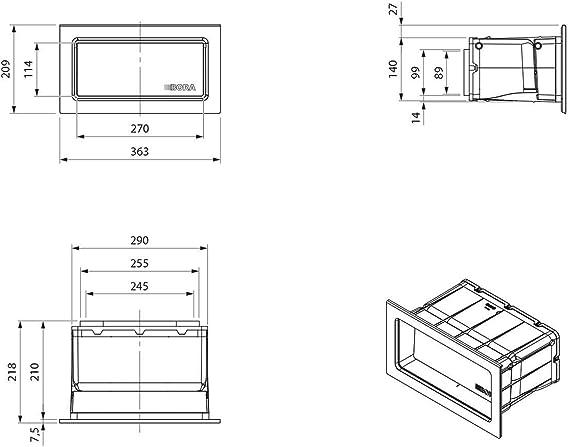 Bora UEBF1 3box Kit accesorio para montaje de rejilla de ventilación: Amazon.es: Grandes electrodomésticos