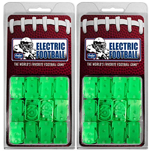 (Tudor Games Electric Football Pro Line 2-Clip Fast Total Team Control Rounded Bases, 24 Pk, Green)