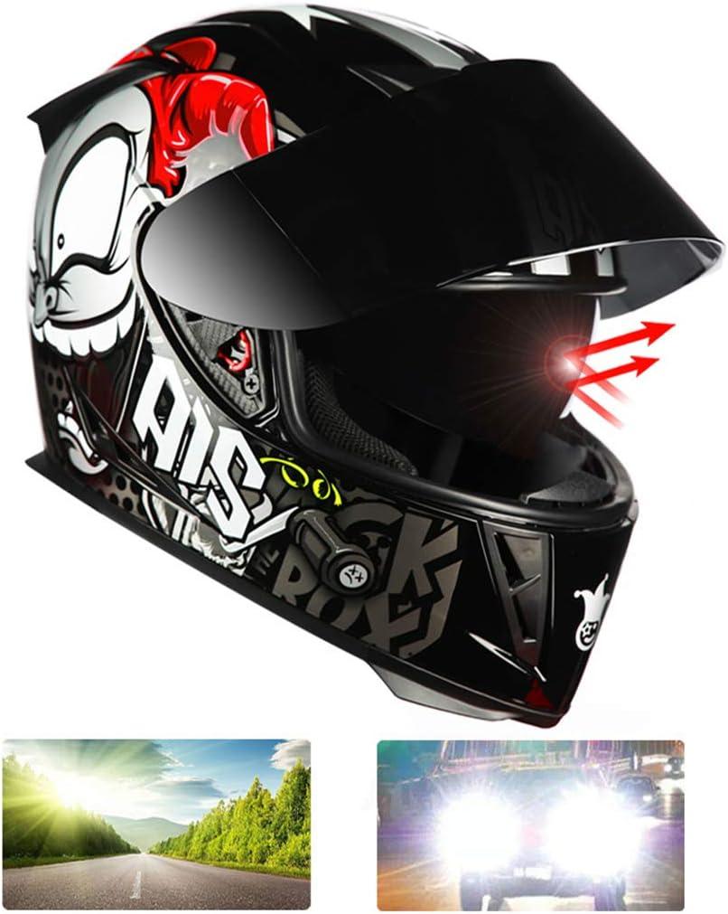 62-63cm 01,XXL MOPIK Casque Moto Modulable Double Visi/ère ECE Homologu/é Homme Femme Anti-bu/ée De Montagne Route De Motocross Casque Modulable Moto