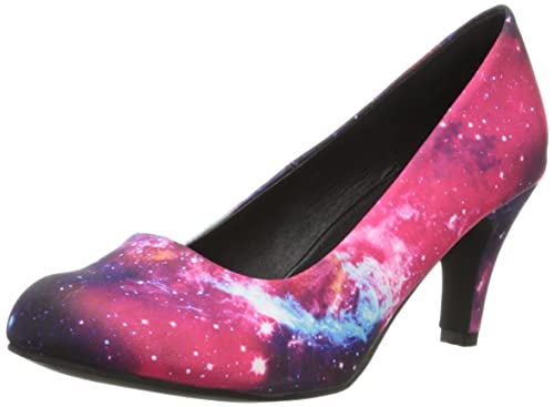 galaxy k Col Blu Heel Tacco T bleu Scarpe u anti Pop Donna HPF56aq