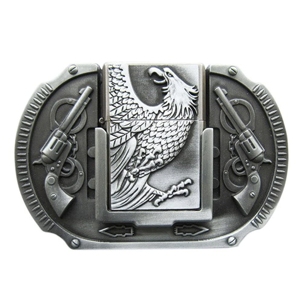 New Vintage Eagle Guns Lighter Belt Buckle also Stock in US