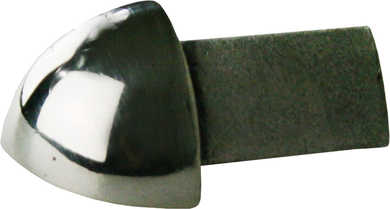 materiale solido H: 11mm quadro acciaio inox V2A satinate langolo non /è verniciato, la superficie non pu/ò staccarsi PREMIO angoli