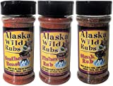 ALASKA WILD RUBS – Use for BBQ, Grilling, Meat Rub, Dry Marinade (3 Pack Variety)