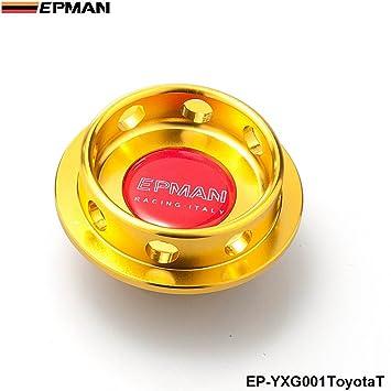 epman edición limitada Billet Aluminio Motor Filtro de aceite tapón depósito de combustible, enchufe para Toyota (oro): Amazon.es: Coche y moto
