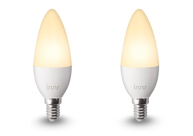 Innr Bombilla LED conectada, E14, luz blanca cálida, controlable vía smartphone, Philips