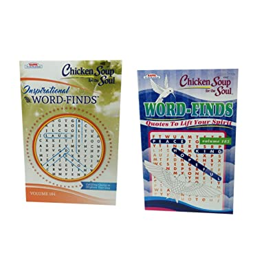 Chicken Soup for The Soul Word-Finds (2 Pack) Inspirational Volume 184 and 185 Word Search: Toys & Games