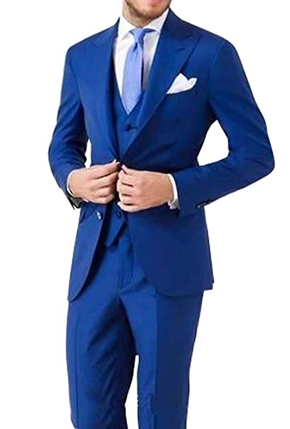 dressvip Trajes Hombres para Boda 2018 Color Sólido Azul ...