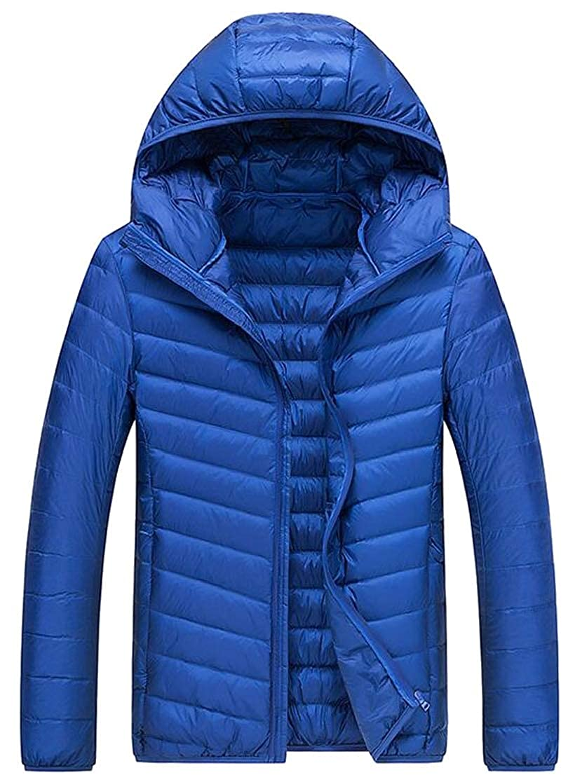 Generic Mens Winter Hooded Lightweight Puffer Down Jacket Coat