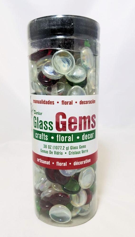 クリスマスガラスGems for Crafts、花柄& Decor – 38 oz   B077KBPW61