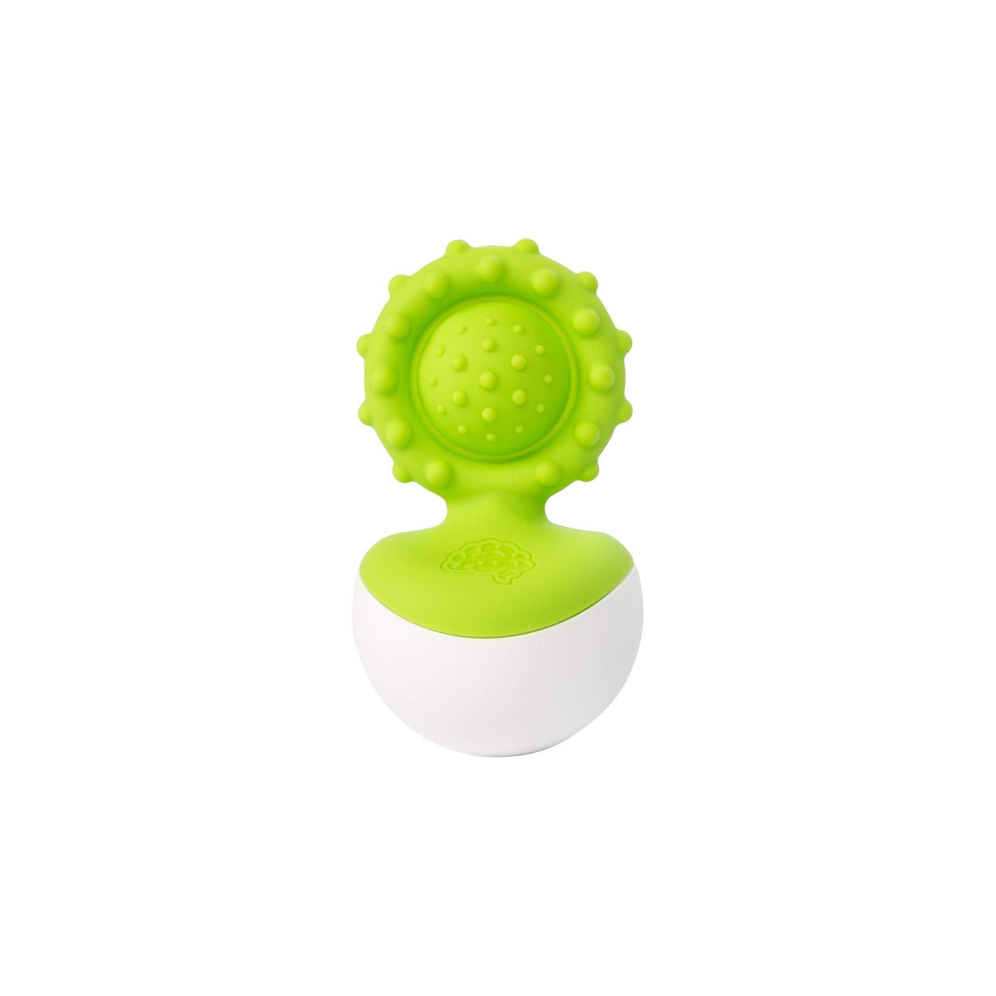 Fat Brain Toys Dimpl Wobbl Green Teether (1)