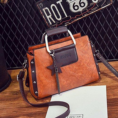 rossa Xwan tracolla singola gomma portatile e in con Borsa bags arancione UnOwBxnvaP